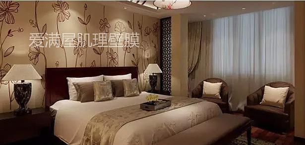 """床头也能""""耍花样"""",多款精致爱满屋肌理壁膜床头背景墙"""