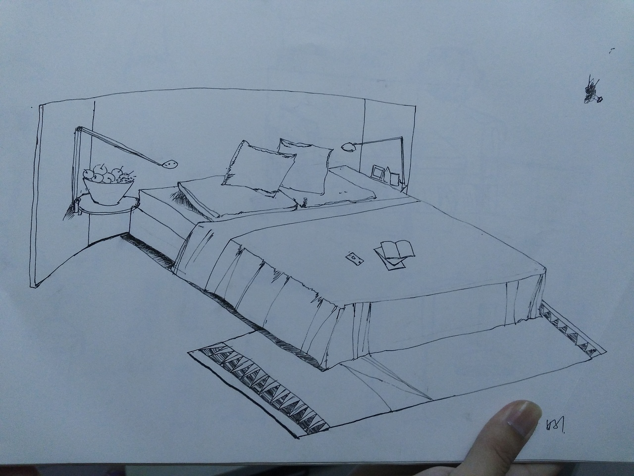 室内家具手绘稿|纯艺术|钢笔画|xiaoxiao强 - 原创图片