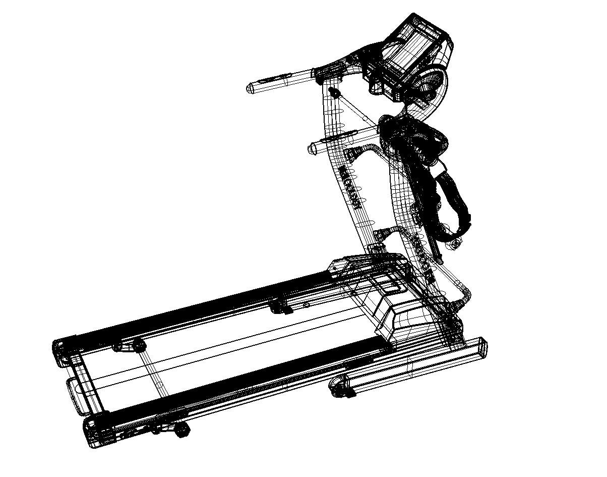 健身器材-跑步机产品渲染|网页|电商|创品汇设计
