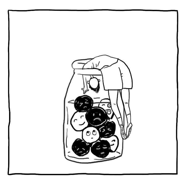 抑郁的手绘图片