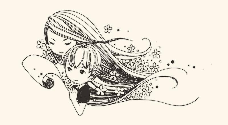 儿童黑白小插图1