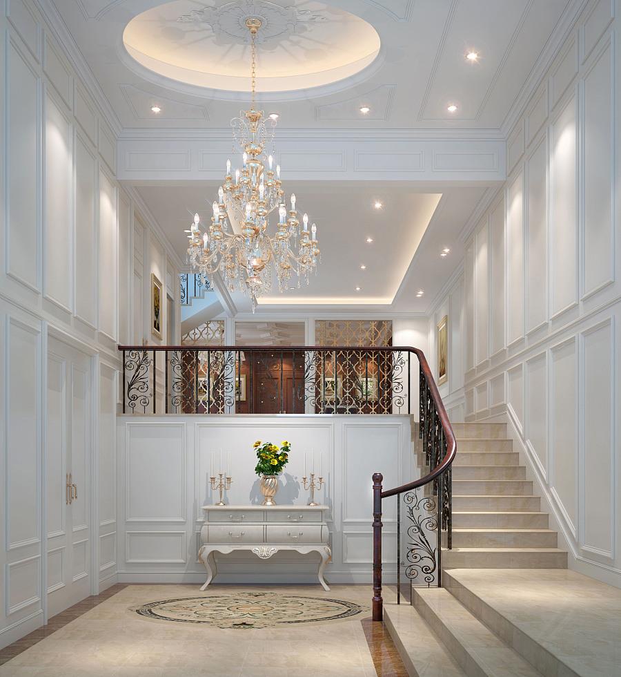 正弘瓴筑豪宅装修设计|欧式新奢华别墅室内设计效果