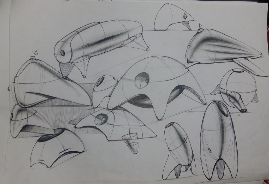 手绘练习|工业/产品|交通工具|棉花弹三斤 - 原创作品