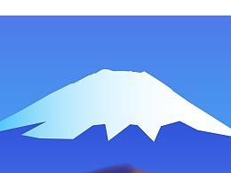 富士山矢量插画
