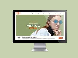 LOHO眼睛网页设计