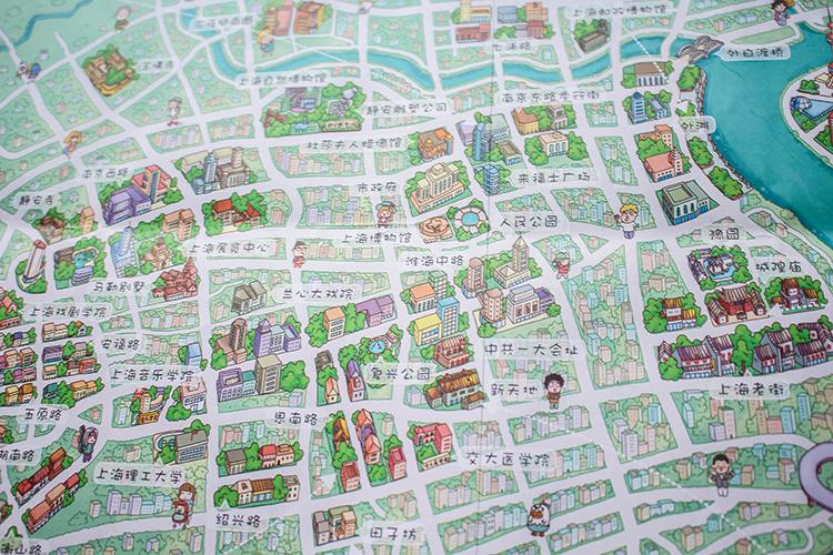 原创作品:上海手绘地图