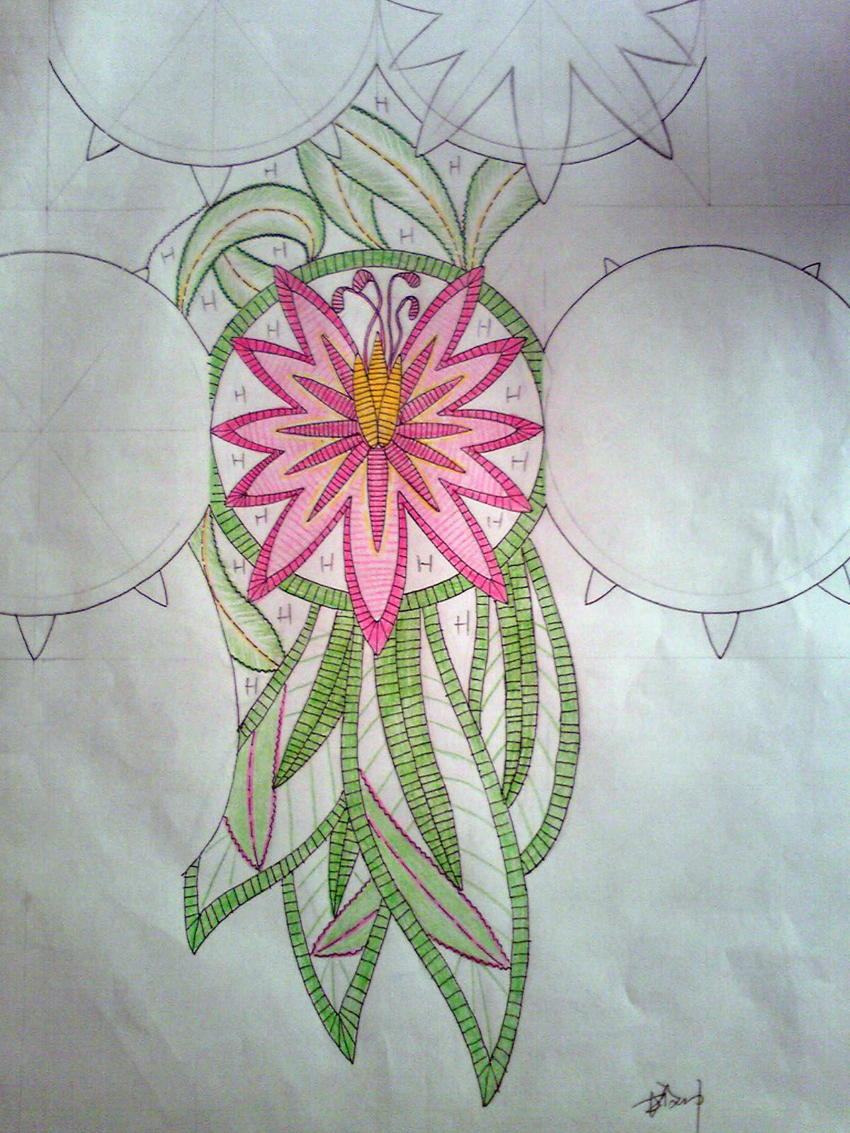 手绘花边稿