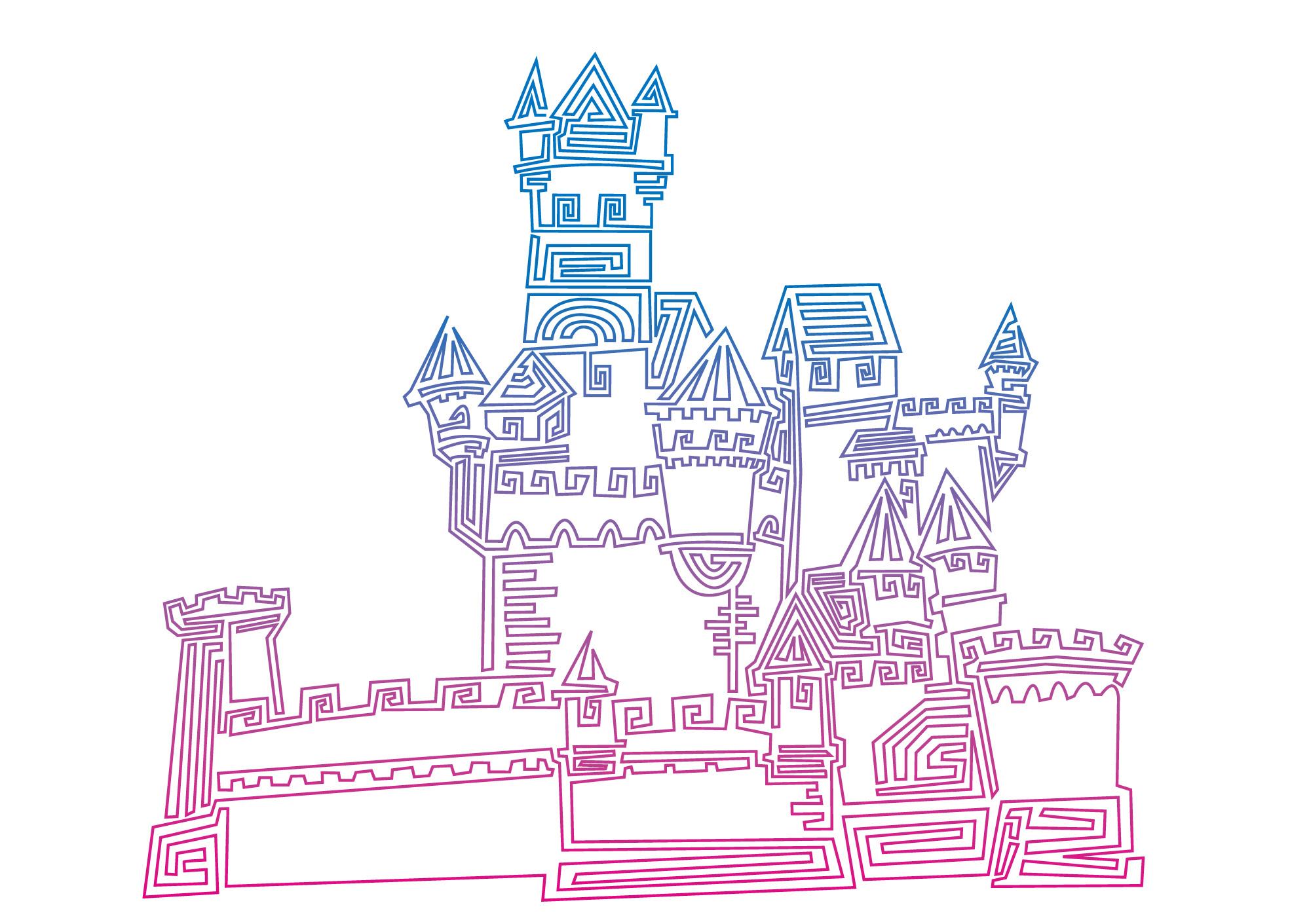 一笔画 我的城堡