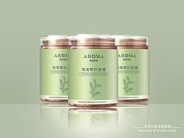 海藻面膜瓶贴设计方案