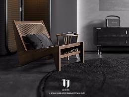 现代住宅/黑的色彩