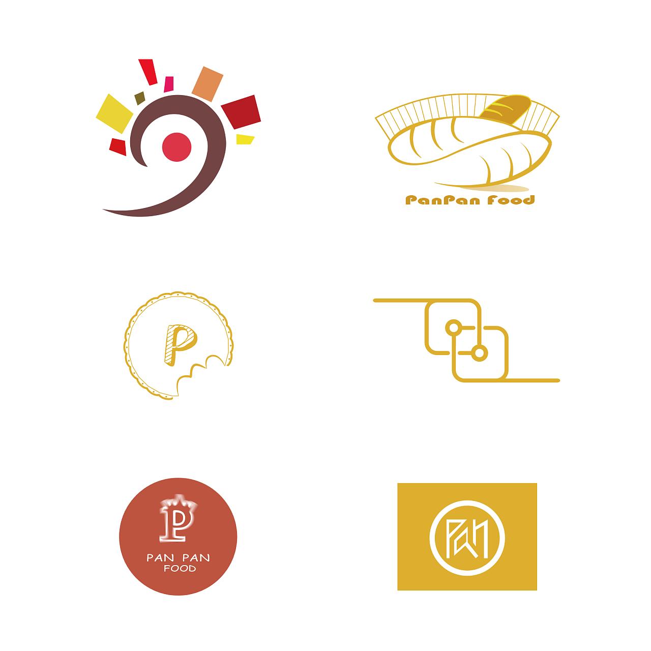"""""""盼盼食品""""logo设计图片"""