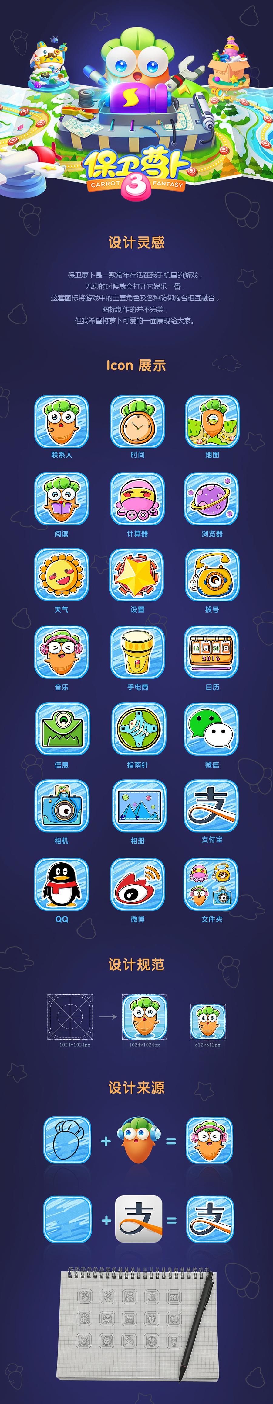 icon保卫萝卜·手绘