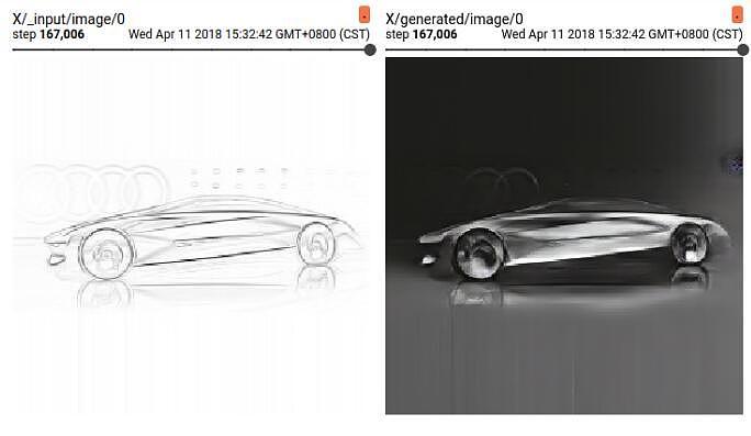 汽车线稿自动上色2.0