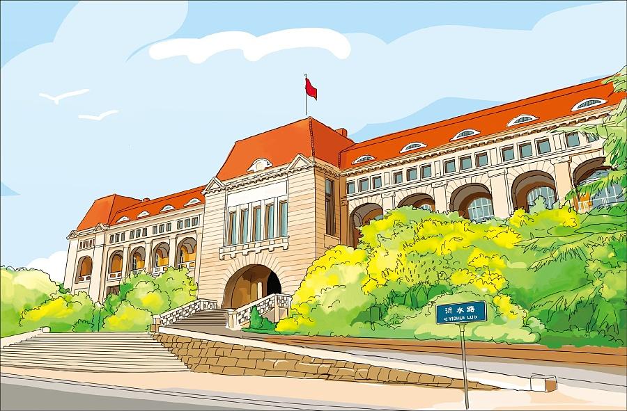 手绘青岛|儿童插画|插画|八带鱼