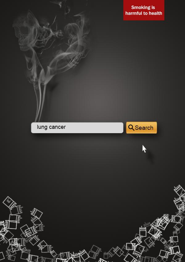原创作品:戒烟海报图片