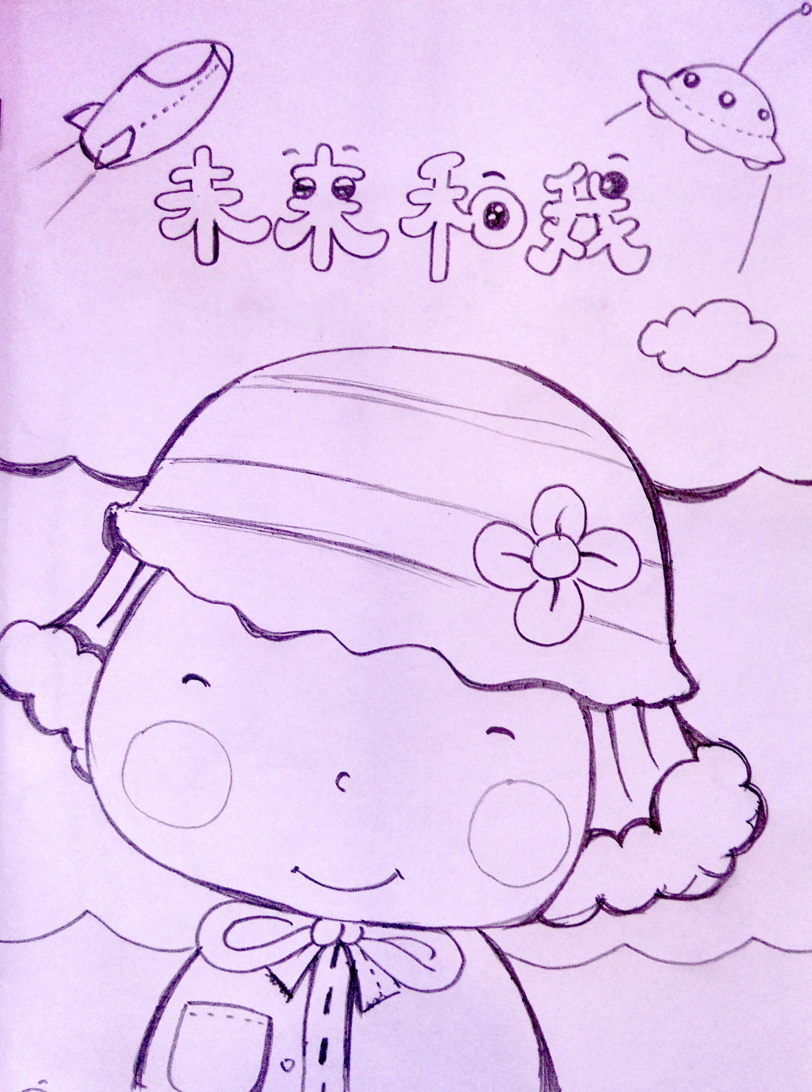 为小朋友画的几张铅笔手绘