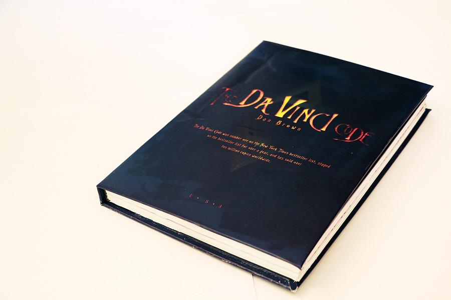 《达芬奇书装》书籍装帧设计|密码/纸板|平面|半层压绝缘画册图片
