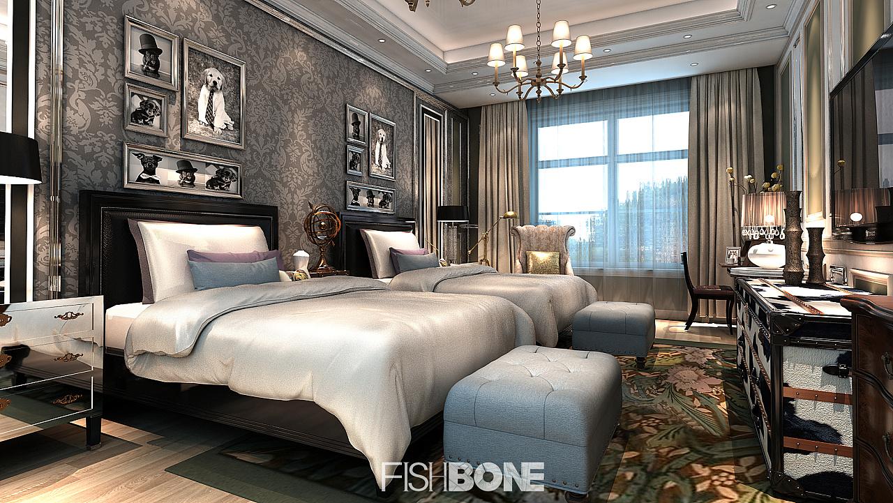 鱼骨设计-巴洛克风格别墅|空间|室内设计|鱼骨设计所图片