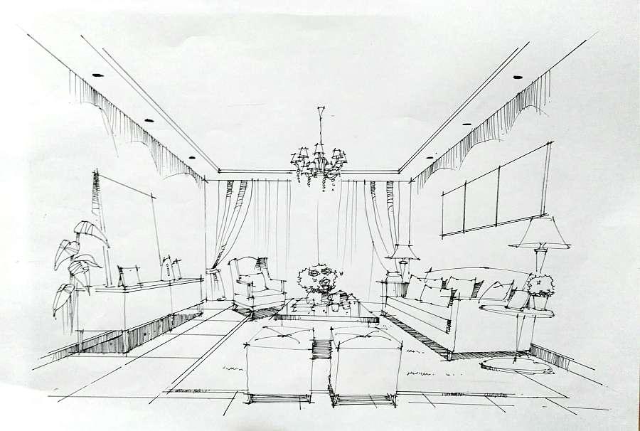建筑/室内手绘|室内设计|空间|黑车司机在行动 - 原创