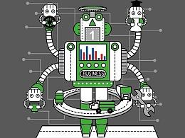 """""""机器工厂""""主题ICON设计"""