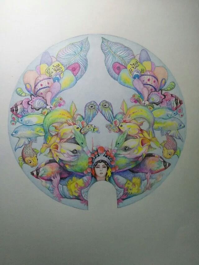 海洋主题手绘插画 纯艺术 彩铅 吉克吉克 - 原创作品