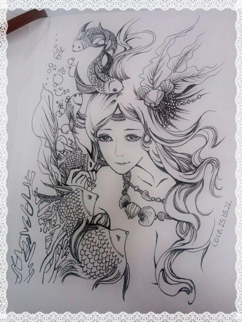 手绘人物 黑白
