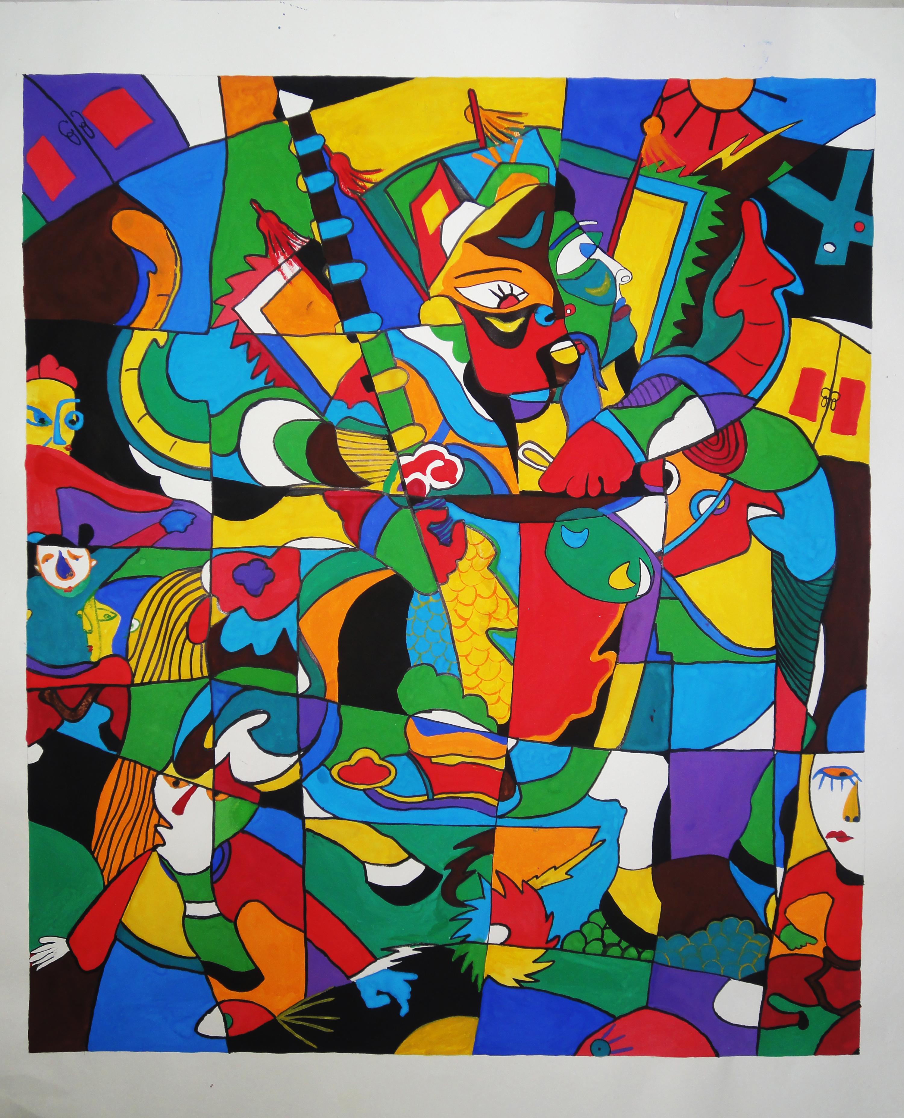 羊  色彩 装饰画 水粉画 工艺 手绘 精品  设计 文化艺术 绘画书法 72