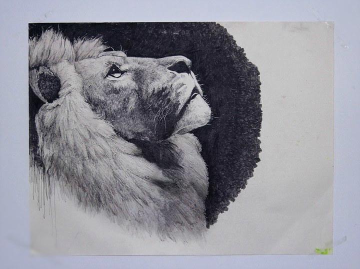彩色铅笔 使用了:其他 - 针管笔        有感而发,画一些大型动物