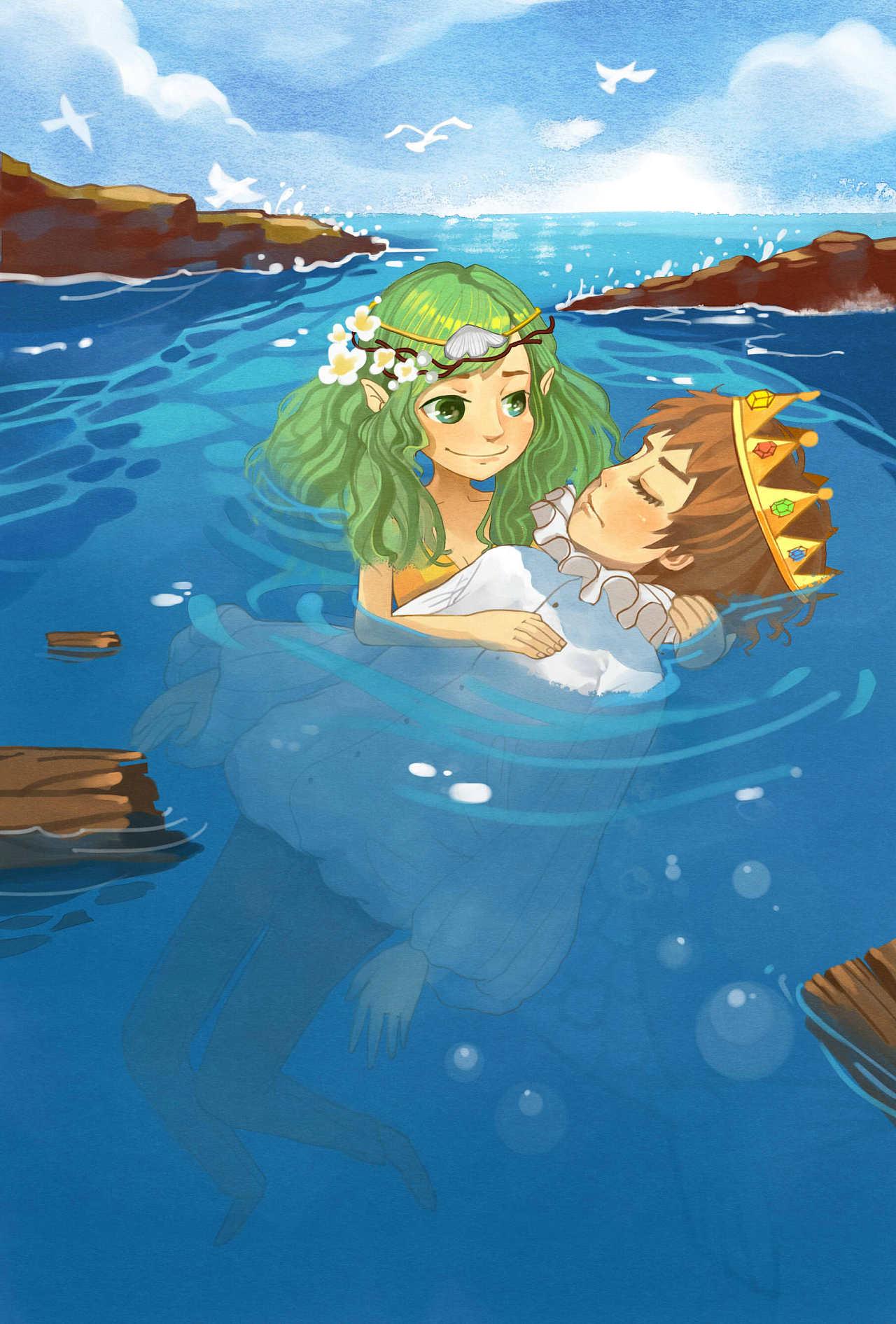 童话中心高中作业安徒生信息《海的女儿》里,小美人鱼变成人是为了实验郑强初中图片