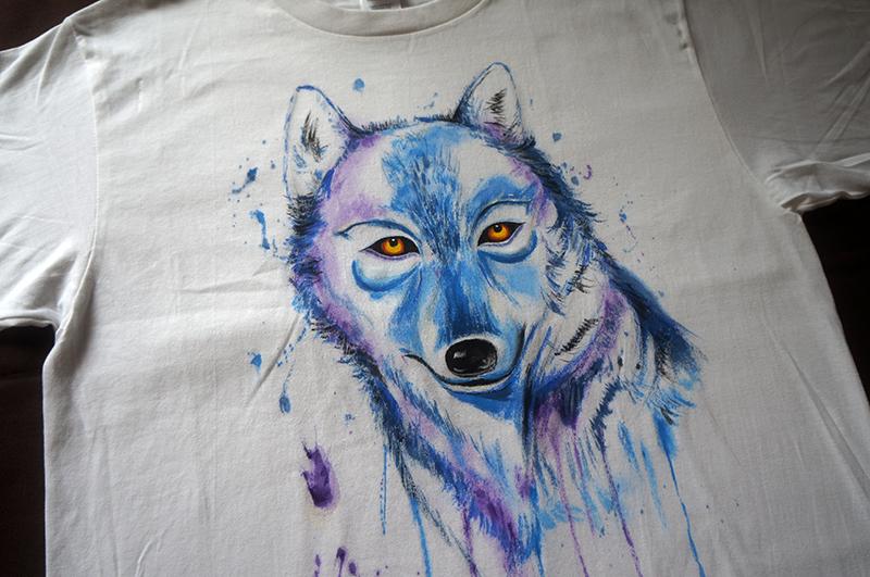 原创手绘tshirt—狼图腾|其他服装|服装|果子design