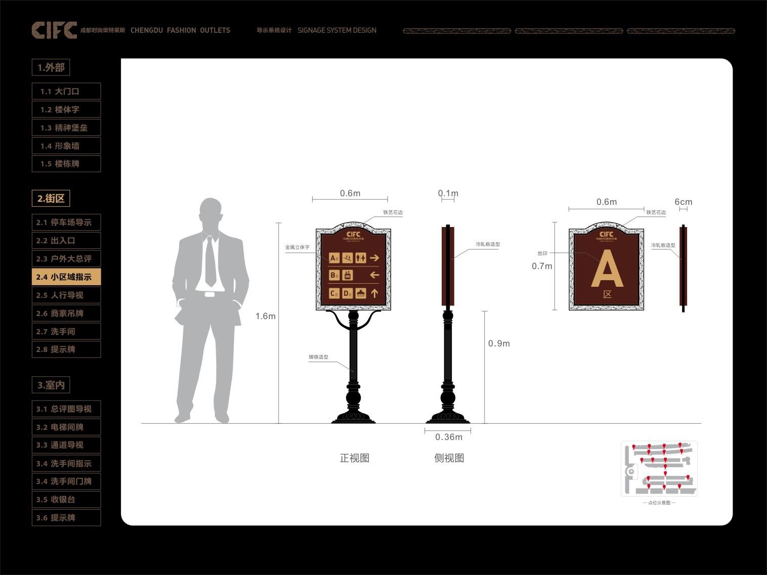 菜单奥特莱斯导视设计餐饮手拿时尚设计图片