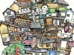 十月日本之旅插画与写生