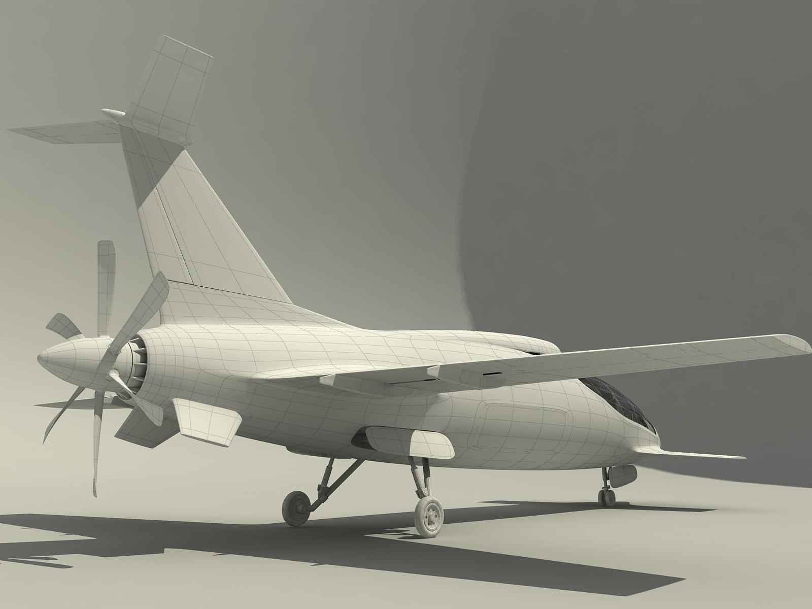 螺旋桨后置小飞机