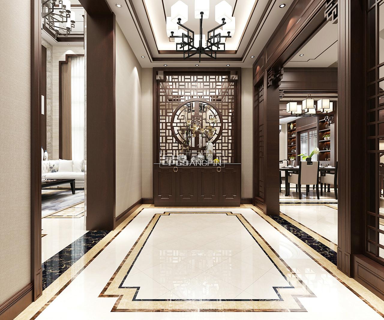 阳乐湾风格600平米联排别墅,新中式国际v风格案北京ui设计公司排行榜图片