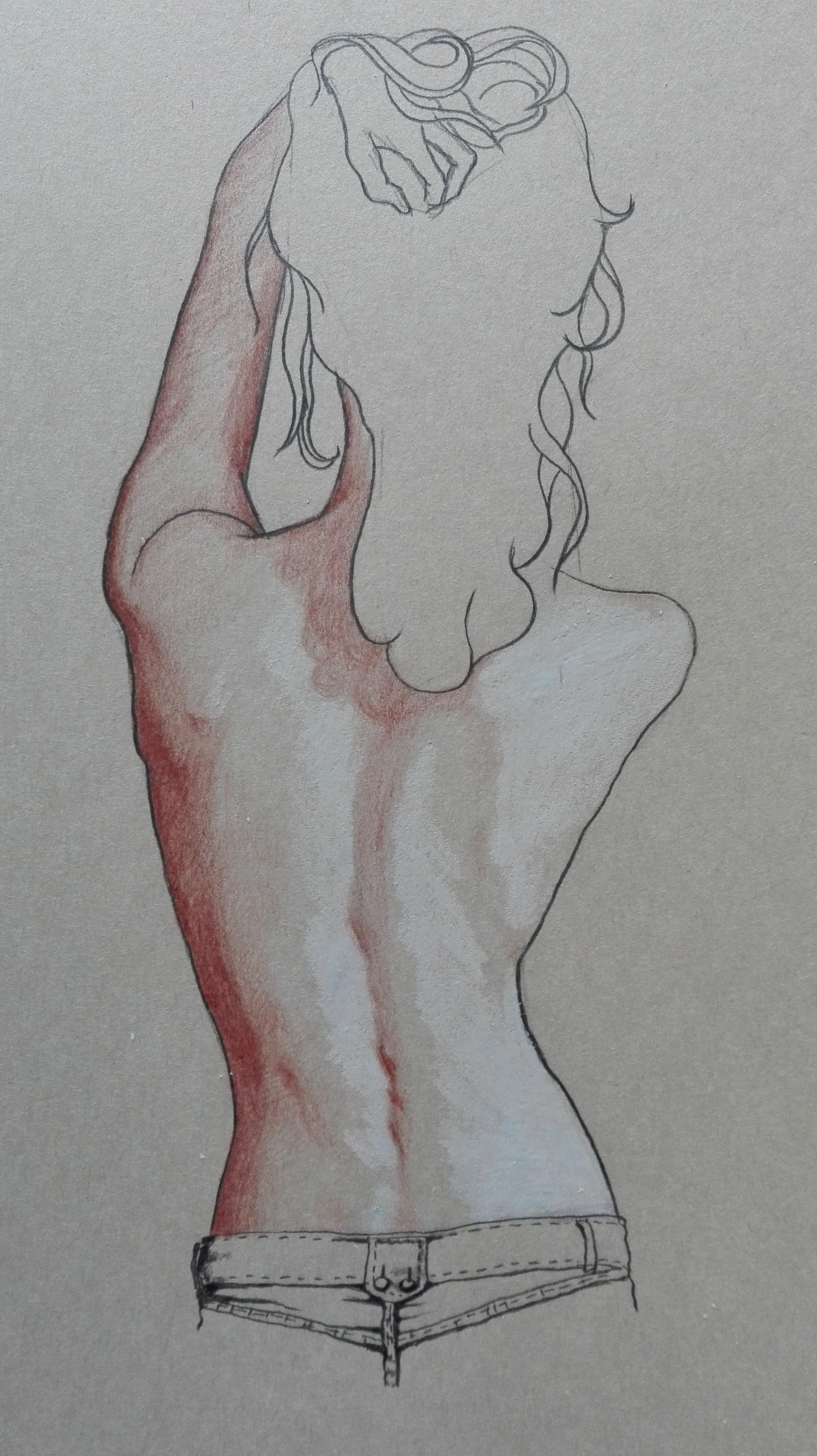 背影手绘图简单