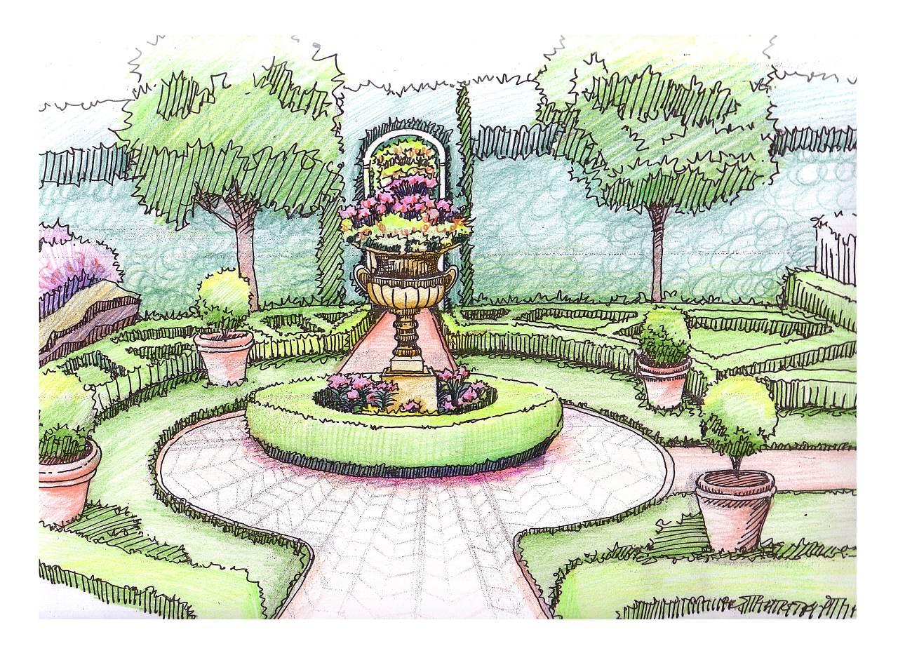 欧式园林小庭院