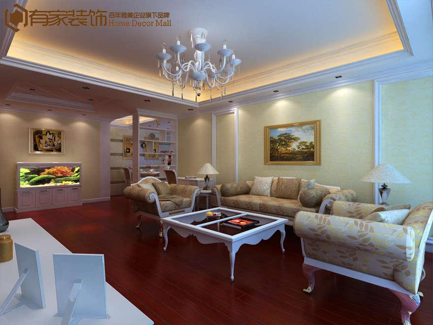 厦门蓝湾国际135平三居户型图二手房装修案例效果图