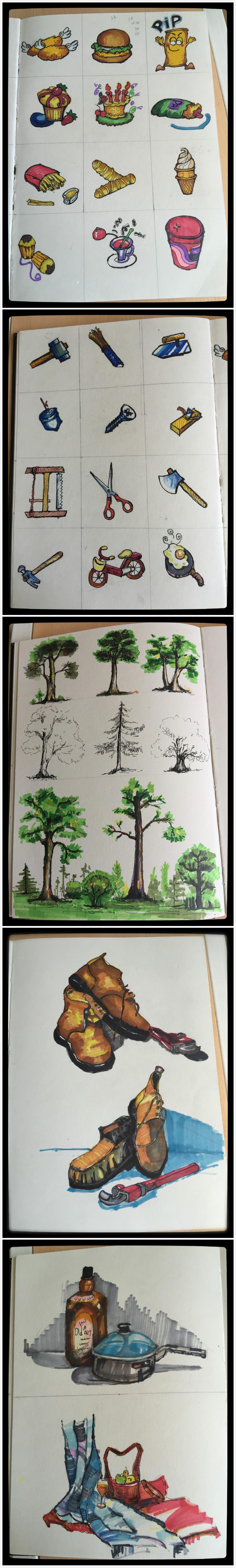 马克笔手绘作品                  2012年大二建筑表现课上手绘作业 5