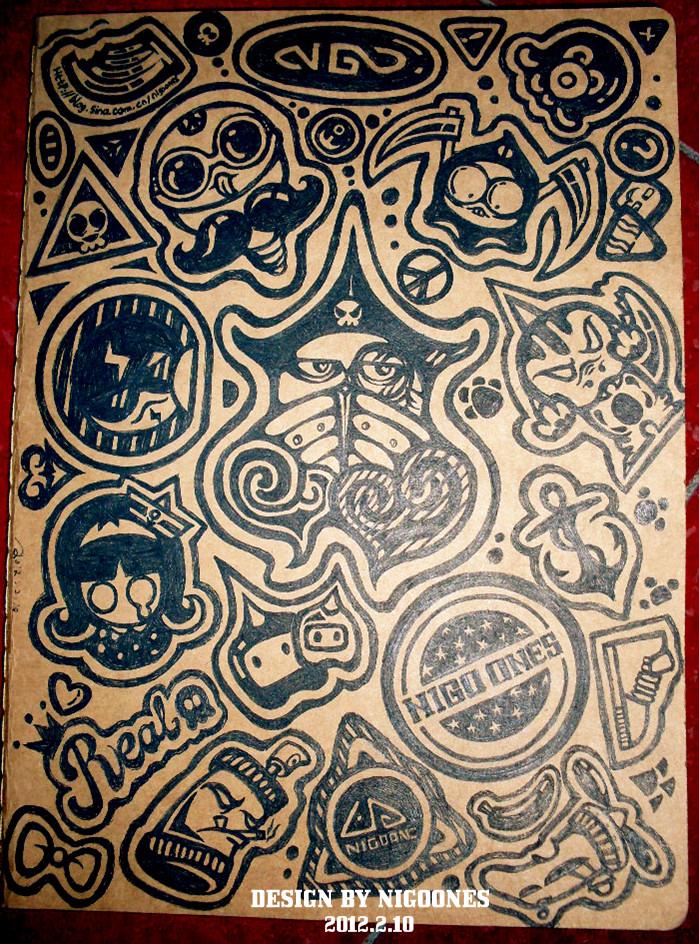 我的手绘本封面!