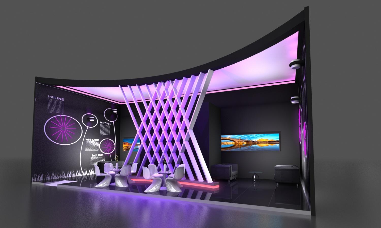 展览展台设计——灯光加强图片