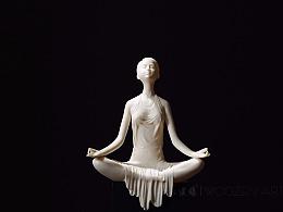 吾心道场 原创陶瓷人物摆件 瑜伽《息心》