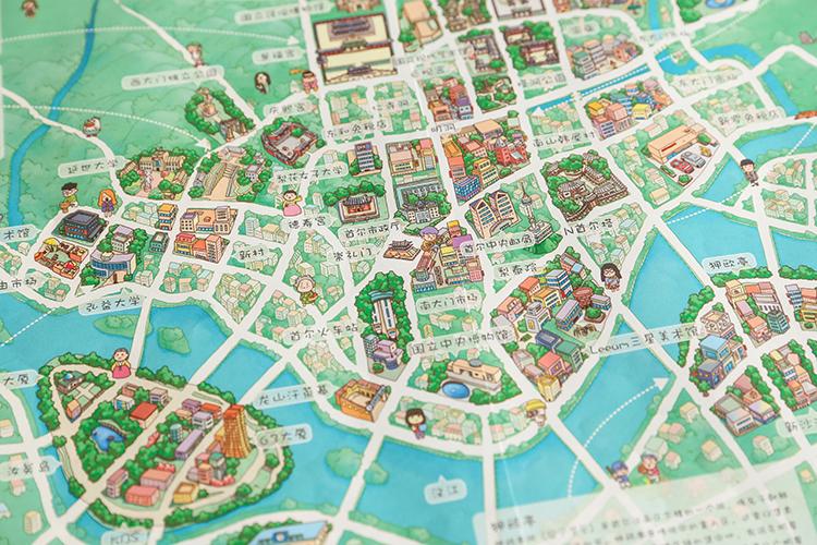 首尔手绘地图