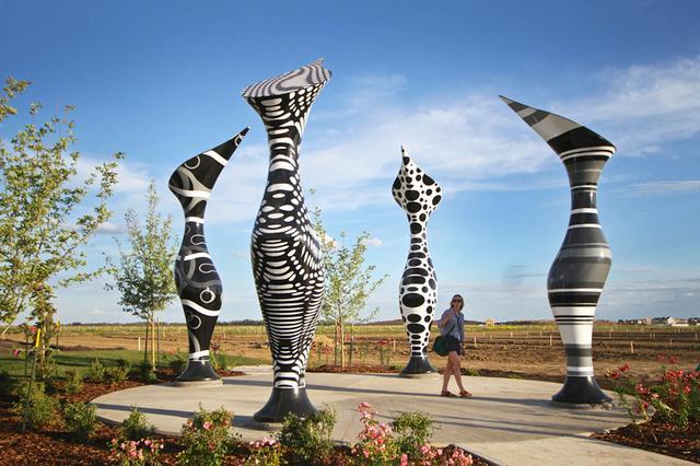 这些景观城市雕塑品,太好看了!少即是多的家具设计作品图片