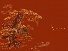 红漆描金版知鱼旅