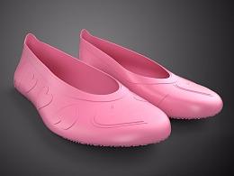 一双硅胶鞋