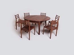 「黑胡桃」原木家具
