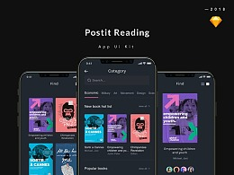 POSTIT READING App UI Kit