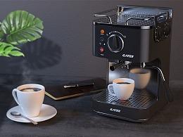 C4D+Octane Render咖啡机