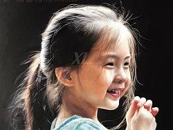 笑与阳光-祥雷彩铅作品