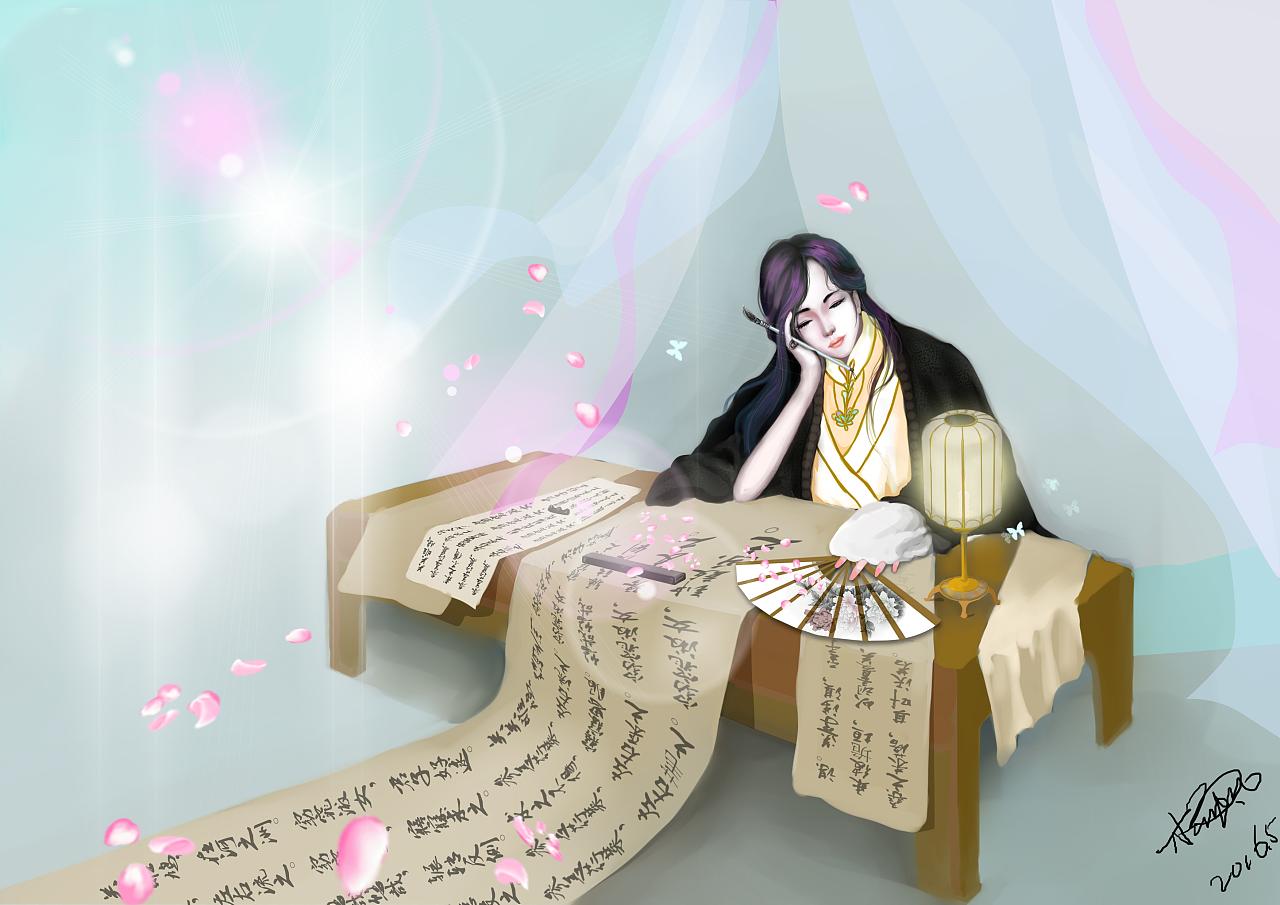 古风戏曲手绘书生
